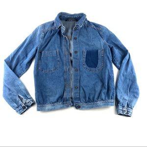 Zara Trafaluc Distressed Women's Denim Jacket XS